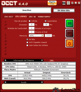 OCCT CPU-LINPACK Locopcs